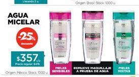 Oferta de Agua micellar LOREAL por $357