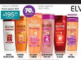 Oferta de Shampoo/Acondicionador Colorvive x 400 ml. ELVIVE por $195,65