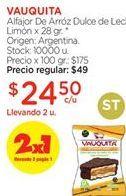 Oferta de Alfajores Vauquita por $24,5