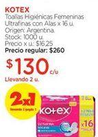 Oferta de Toallas femeninas Kotex por $130