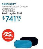 Oferta de Parlantes bluetooth SIMPLICITY por $714,75