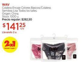 Oferta de Colaless Encaje corazones WAV por $141,25
