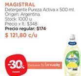 Oferta de Detergente Magistral por $121,8
