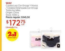 Oferta de Culotte WAV por $172,75