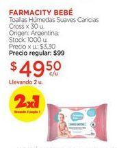 Oferta de Toallitas húmedas para bebé FARMACITY BEBE por $49,5