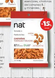 Oferta de Castañas de caju tostada y salada x 85 gr. NAT por