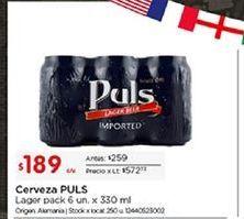 Oferta de Cerveza Puls por $189