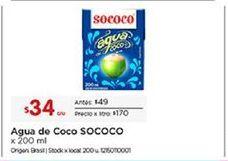 Oferta de Agua de coco Sococo por $34