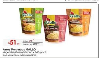 Oferta de Arroz Gallo por $51