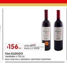 Oferta de Vino Elegido por $156