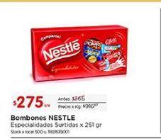Oferta de Bombones Nestlé por $275