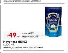 Oferta de Mayonesa Heinz por $49