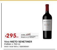 Oferta de Vino Nieto Senetiner por $295