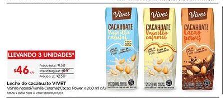 Oferta de Leche de cacahuate Vivet por $46