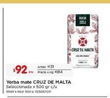Oferta de Mate Cruz de Malta por $92