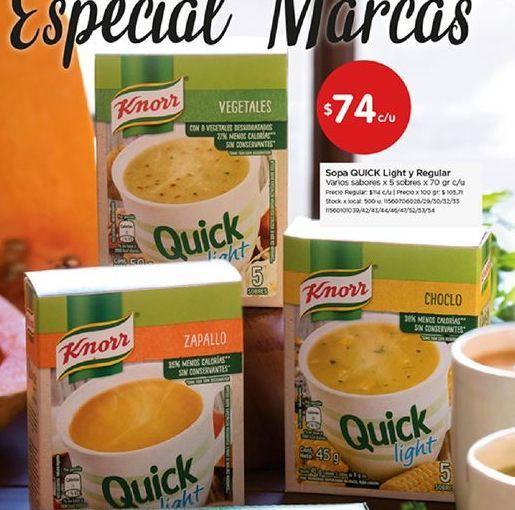 Oferta de Sopa Knorr por $74