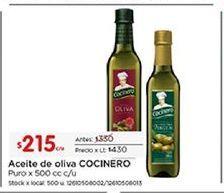 Oferta de Aceite de oliva Cocinero por $215