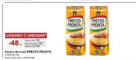 Oferta de Harina de maíz Presto Pronta por $48