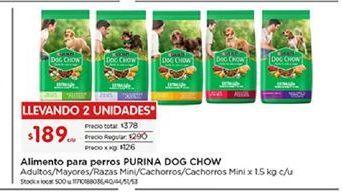 Oferta de Alimento para perros Dog Chow por $189