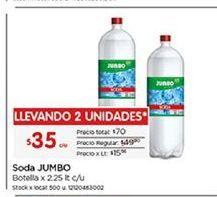Oferta de Bebidas Jumbo por $35
