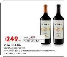 Oferta de Vino Killka por $249