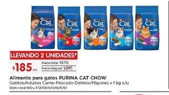 Oferta de Comida para gatos Cat Chow por $185