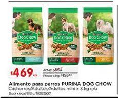 Oferta de Alimento para perros Dog Chow por $469