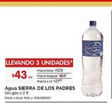Oferta de Agua Sierra de los Padres por $43