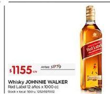 Oferta de Whisky Johnnie Walker por $1155