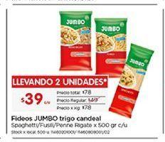 Oferta de Fideos Jumbo por $39