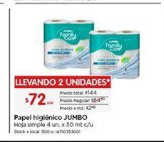 Oferta de Papel higiénico Jumbo por $72