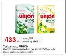 Oferta de Mate Unión por $133