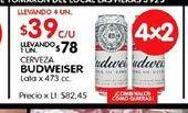 Oferta de Cerveza Budweiser por $39