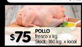 Oferta de Pollo por $75