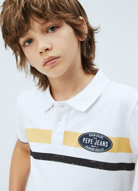Oferta de COUNT STRIPED POLO SHIRT por $39,9