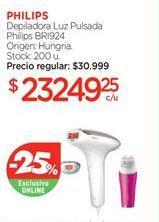 Oferta de Depiladora de luz pulsada Philips por
