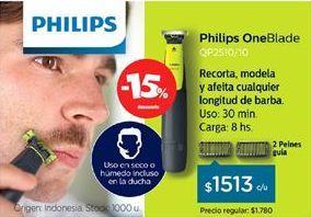 Oferta de Afeitadora Philips por