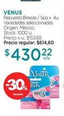 Oferta de Afeitado Venus por $430,22