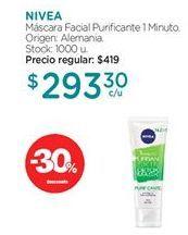 Oferta de Máscaras Nivea por $293,3