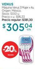 Oferta de Máquina de afeitar Venus por $305,04