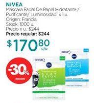 Oferta de Máscaras Nivea por $170,8