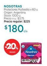 Oferta de Toallas femeninas Nosotras por $180