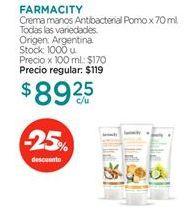 Oferta de Crema de manos FARMACITY por $89,25