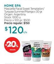 Oferta de Mascarilla HOME SPA por $120