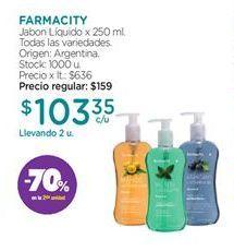 Oferta de Jabón líquido FARMACITY por $103,35
