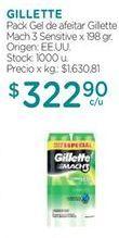 Oferta de Gel de afeitar Gillette por $322,9