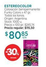 Oferta de Tinte de pelo ESTEREOCOLOR por $80,85