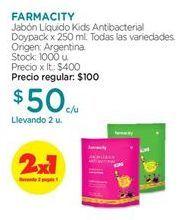 Oferta de Jabón líquido FARMACITY por $50