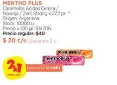 Oferta de Caramelos Menthoplus por