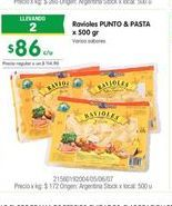 Oferta de Ravioles PUNTO & PASTA por $86